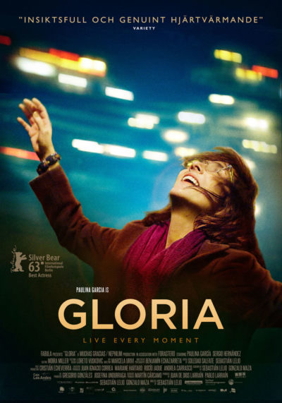 Gloria (2013) Theatrical onesheet / movie poster / film poster design for Atlantic Film.