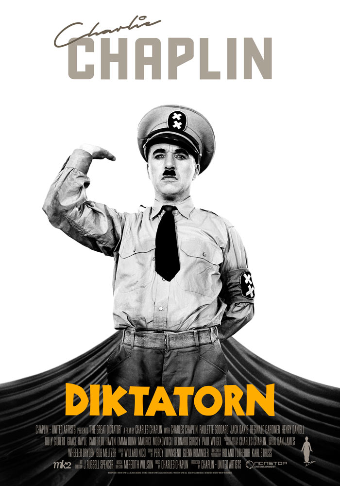 The Great Dictator (1940) Charlie Chaplin onesheet 1 swe