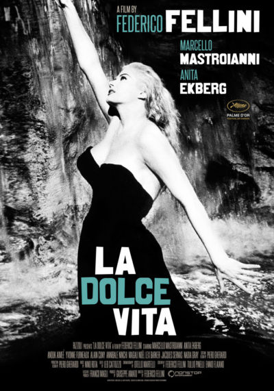 La dolce vita (1960) Federico Fellini, movie poster, English