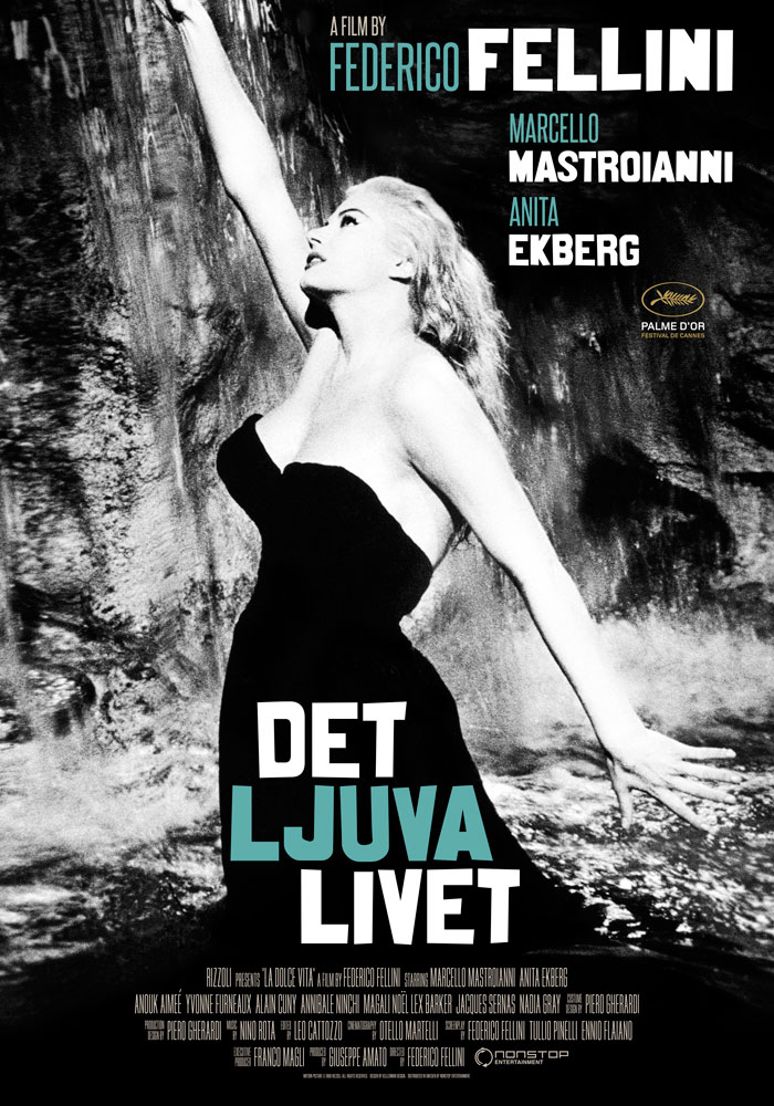 La dolce vita (1960) Federico Fellini onesheet swe