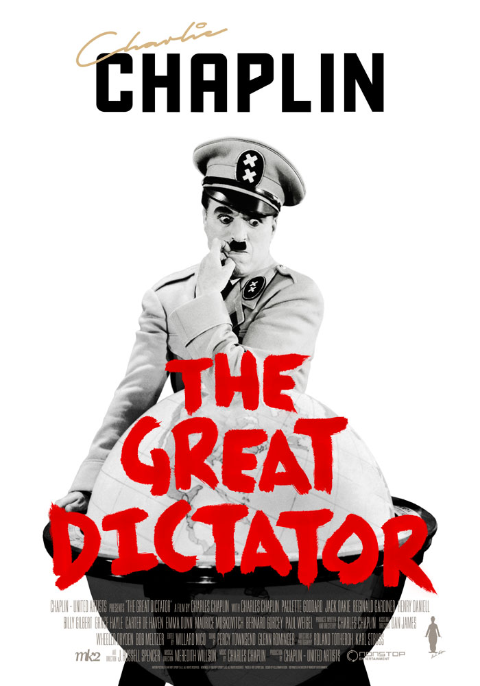 The Great Dictator (1940) Charlie Chaplin, movie poster, English