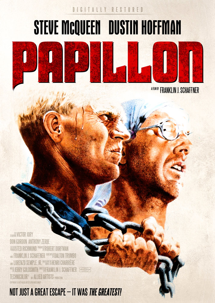 Papillon (1973) Franklin J. Schaffner key art