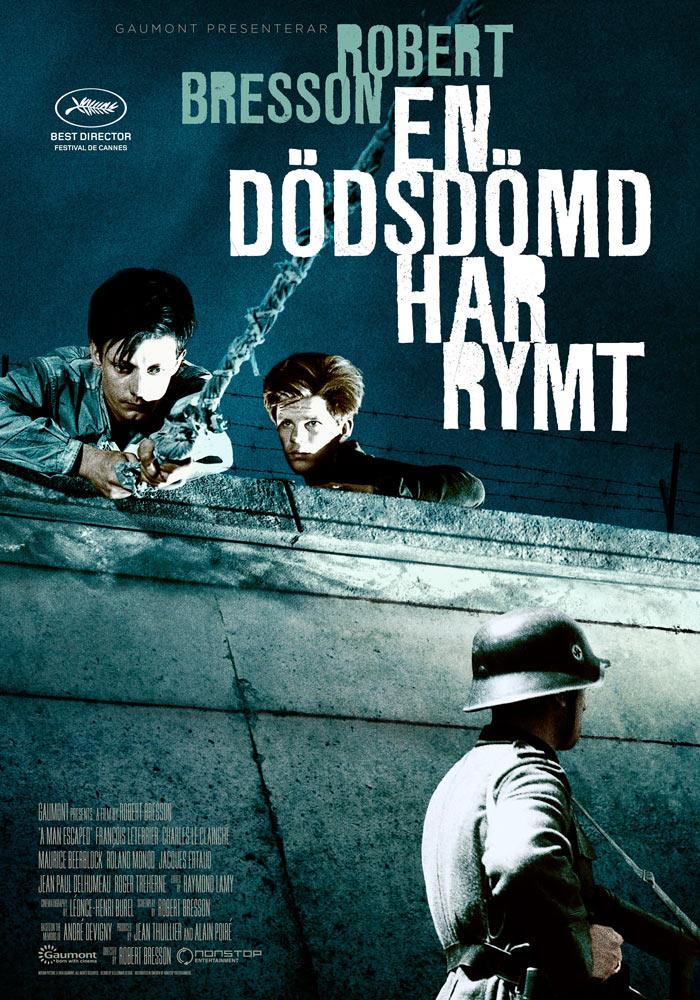 A Man Escaped (1956) Robert Bresson onesheet swe