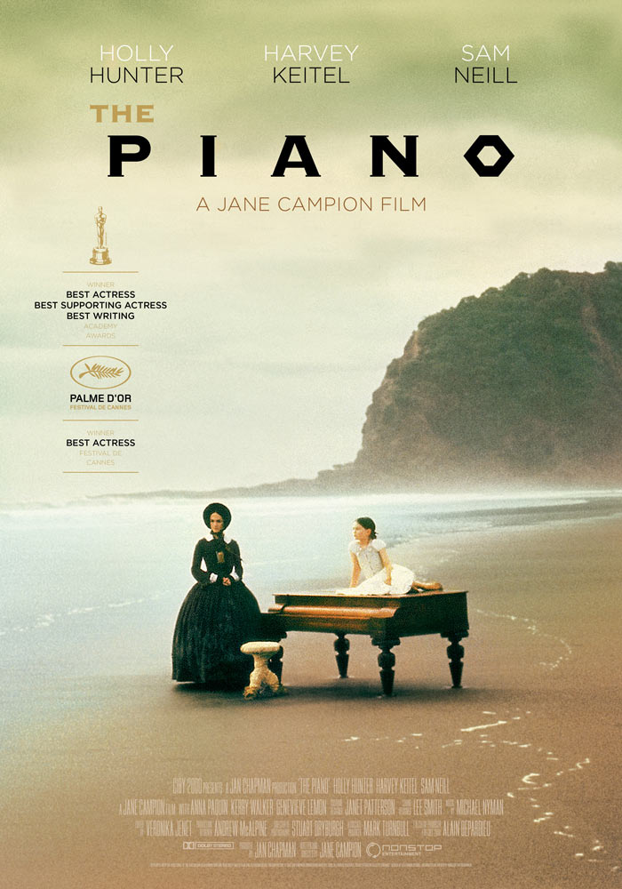 The Piano (1993) Jane Campion onesheet eng