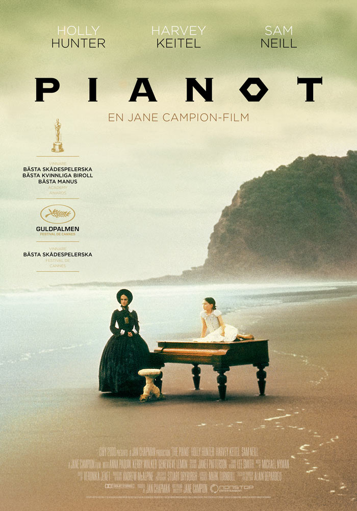 The Piano (1993) Jane Campion onesheet swe