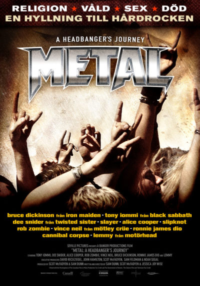 Metal – A Headbanger's Journey (2005) Sam Dunn, Scot McFadyen, Jessica Joy Wise promotional onesheet