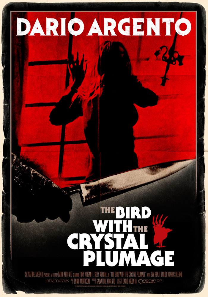 The Bird With the Crystal Plumage (1970) Dario Argento theatrical onesheet eng