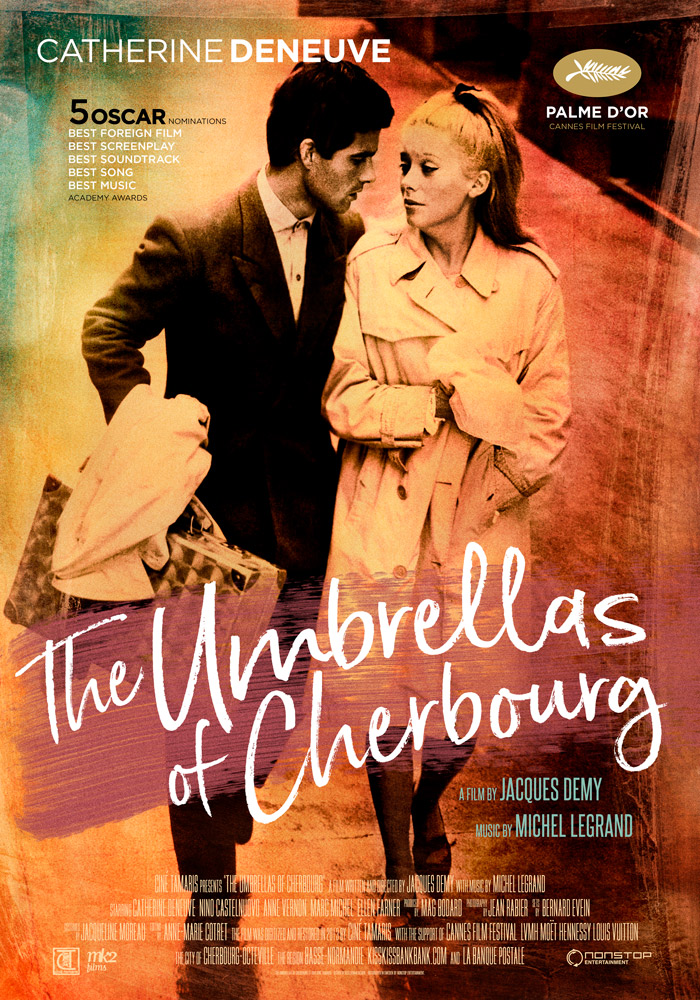 The Umbrellas of Cherbourg (1964) Jacques Demy theatrical onesheet eng