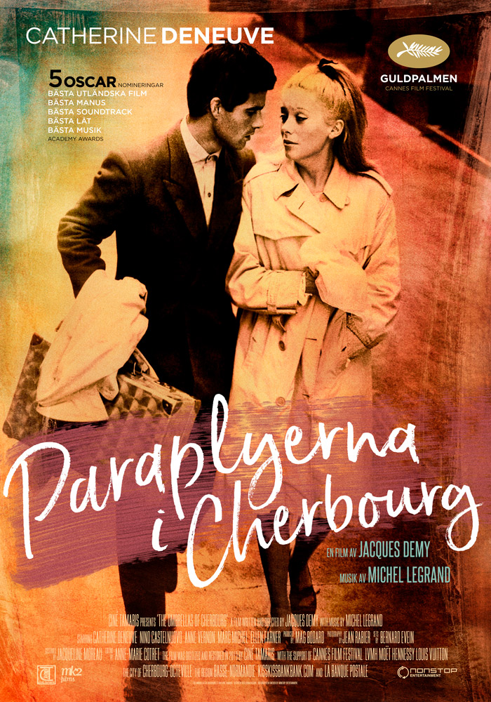 The Umbrellas of Cherbourg (1964) Jacques Demy theatrical onesheet swe