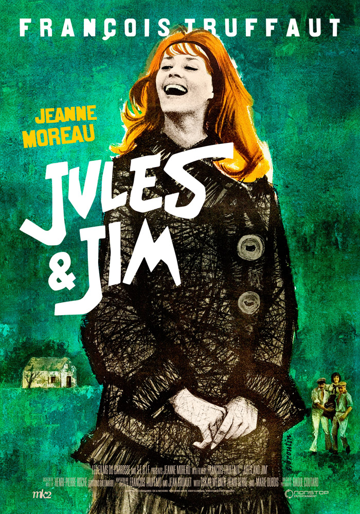 Jules and Jim (1962) Francois Truffaut theatrical onesheet