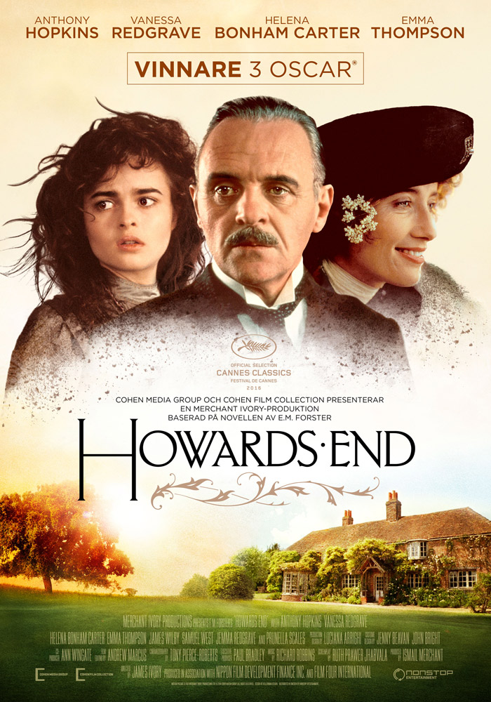 Howards End (1992) James Ivory theatrical onesheet swe