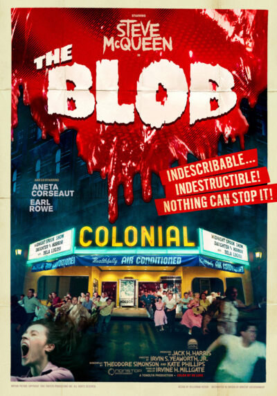 The Blob (1958) Irvin S. Yeaworth Jr. theatrical onesheet