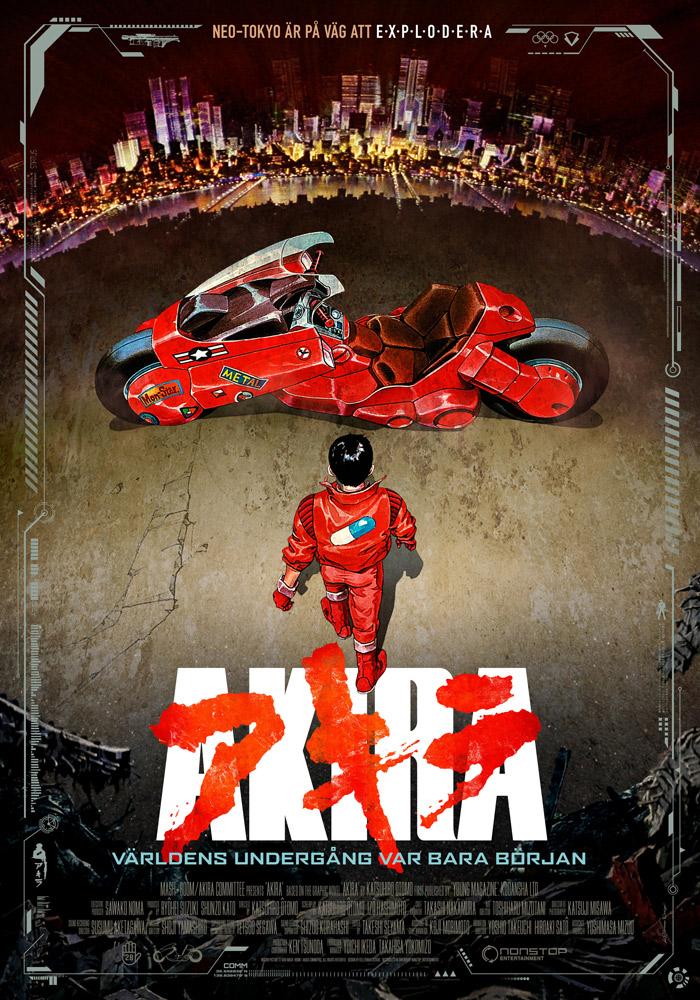 Akira (1988) Katsuhiro Otomo theatrical onesheet v1.0 swe