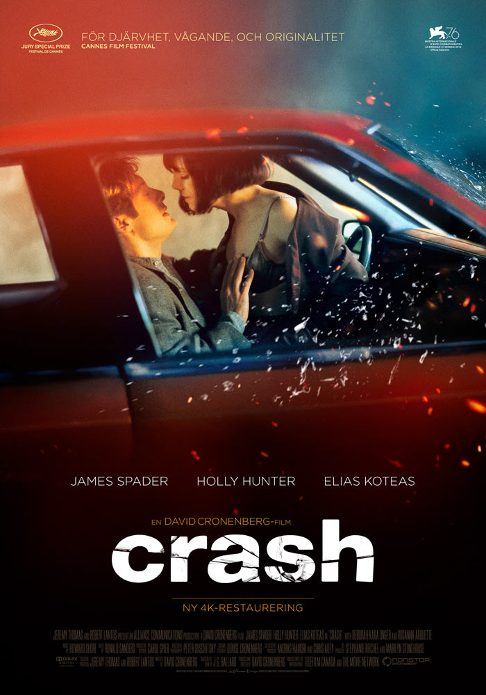Crash (1996) David Cronenberg theatrical onesheet swe