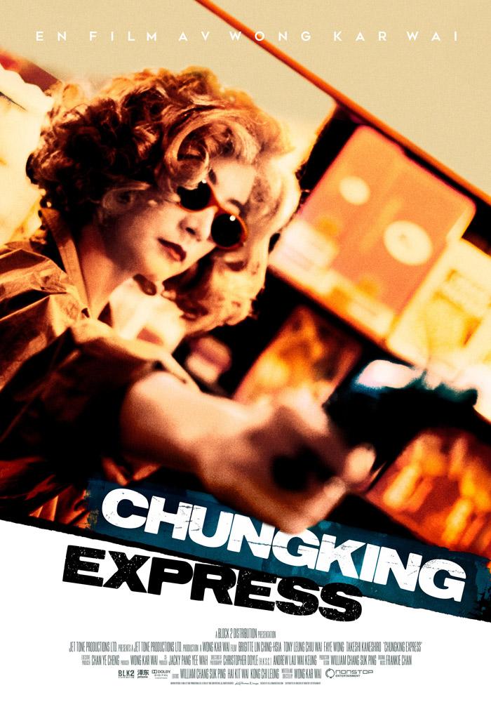 Chungking Express (1994) Wong Kar Wai theatrical onesheet swe