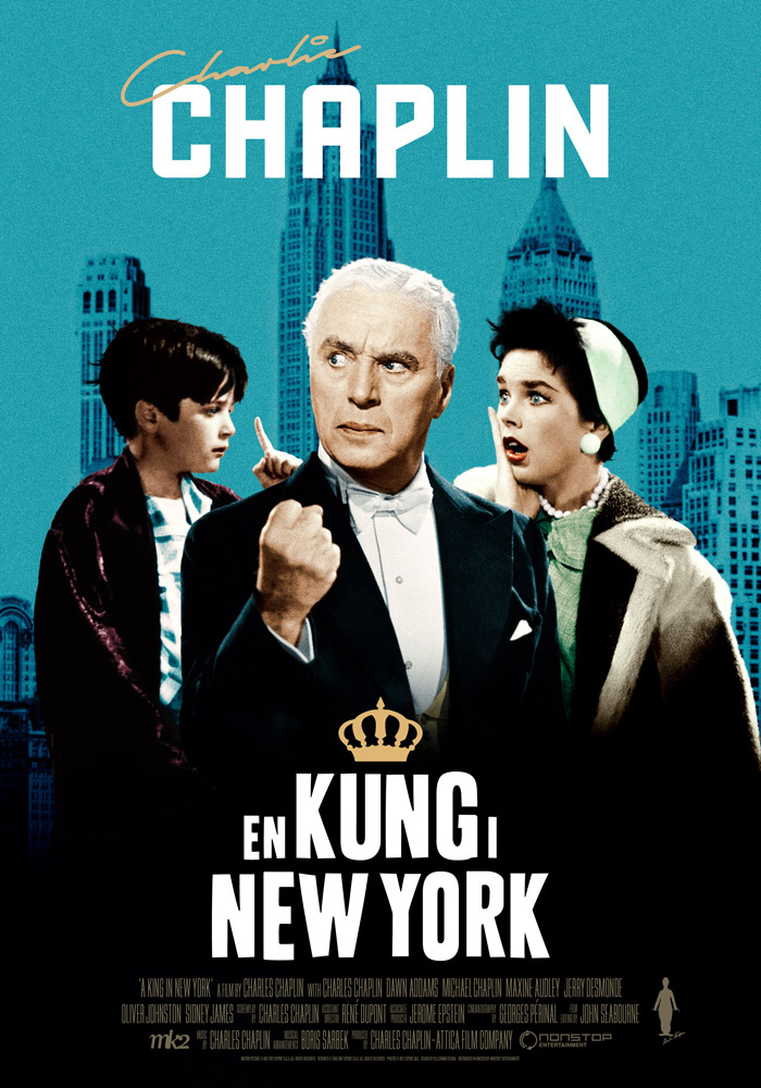 A King in New York (1957) Charles Chaplin onesheet swe