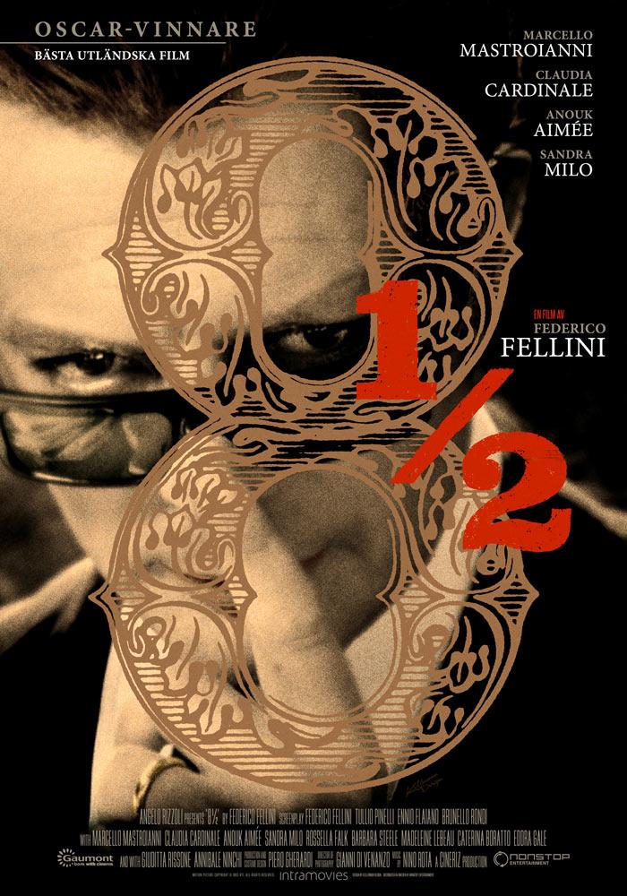 8½ (1963) Federico Fellini theatrical onesheet swe